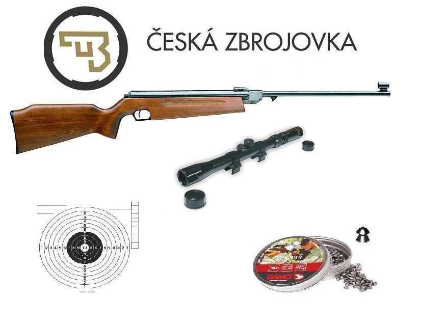 050300931 Vzduchová puška Slavia 634 cal. 4,5mm SET DŘEVO