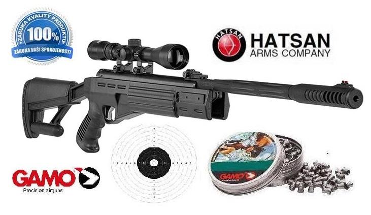 Vzduchová puška, vzduchovka Hatsan Striker Airtact cal 4,5mm Set